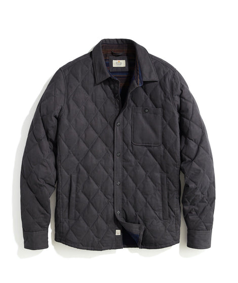 Decker Quilted Shacket in Asphalt