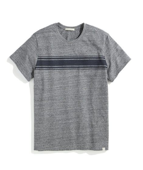 Re-Spun Signature Crew Graphic Tee in Heather Grey