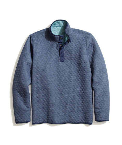 Reversible Corbet Pullover in Navy Heather/Blue Surf Heather