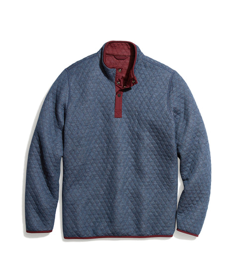 Reversible Corbet Pullover in Navy/Tawny Port