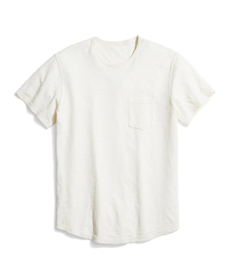 Saddle Pocket Tee in White