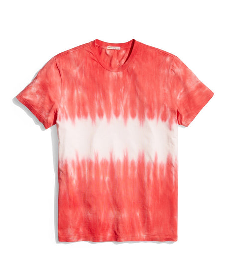 satisfaction tee in red tie dye front