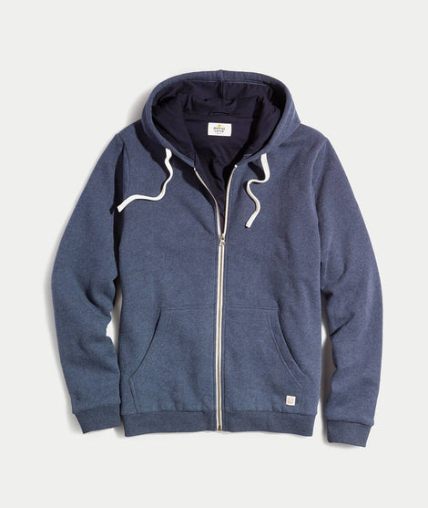 Signature Zip Lined Hoodie in Navy