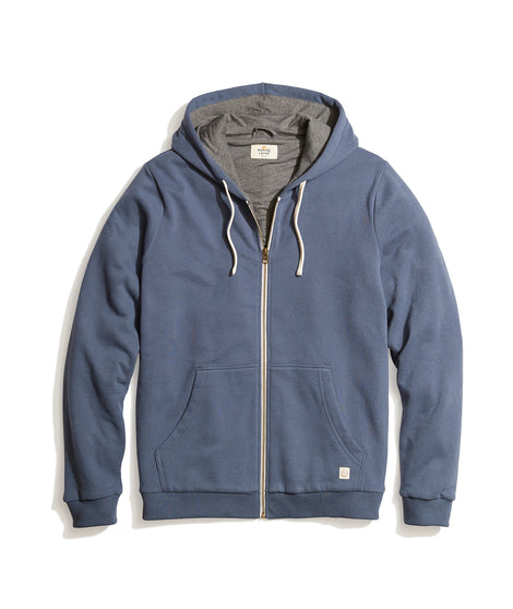 Signature Zip Lined Hoodie in Bering Sea Heather