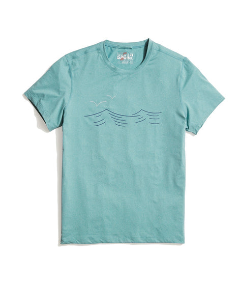 Teal Waves Sport Crew