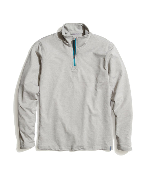 Huntley Quarter Zip in Light Heather Grey