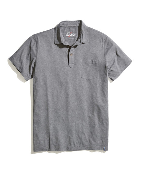 Sport Polo in Grey Heather