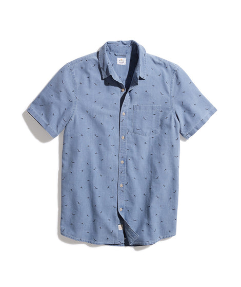 Diver Dave Button Down in Medium Indigo