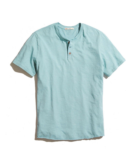 short sleeve henley green mist laydown