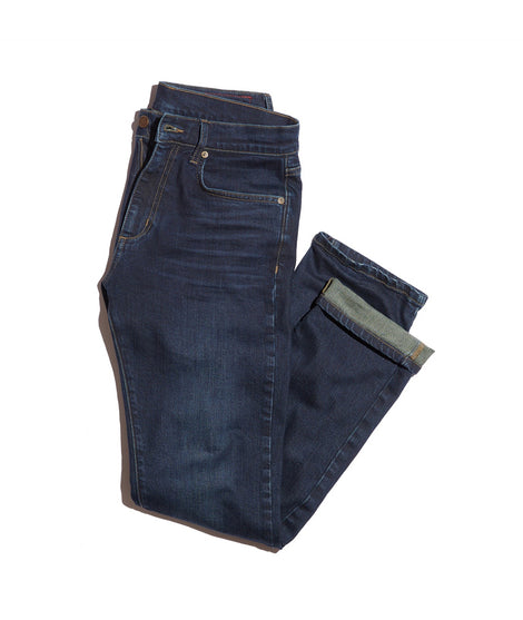Straight Fit Jean in Dark Wash Indigo