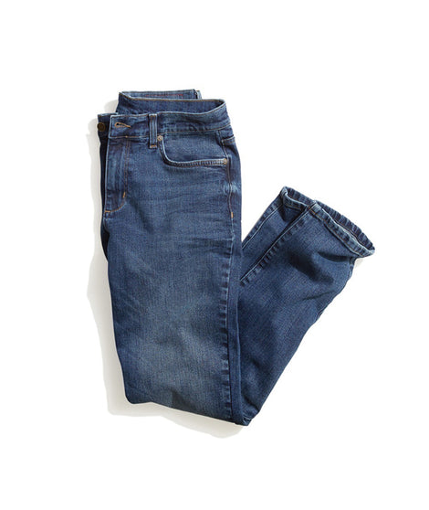 Straight Fit Jean in Medium Indigo