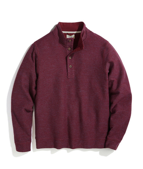 Clayton Textured Pullover in Cabernet Heather