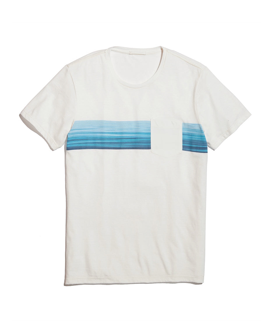 Wave Stripe Pocket Tee