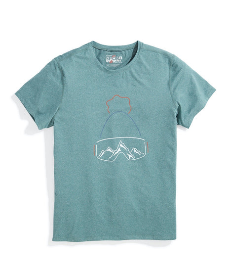 Sport Crew Tee in Pine Needle Ski Dude