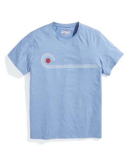 Sport Crew Tee Light Blue Heather Slow Wave