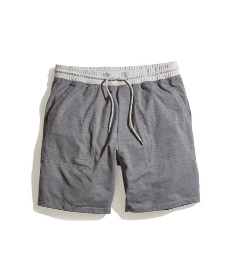Yoga Short in Dark Heather Grey