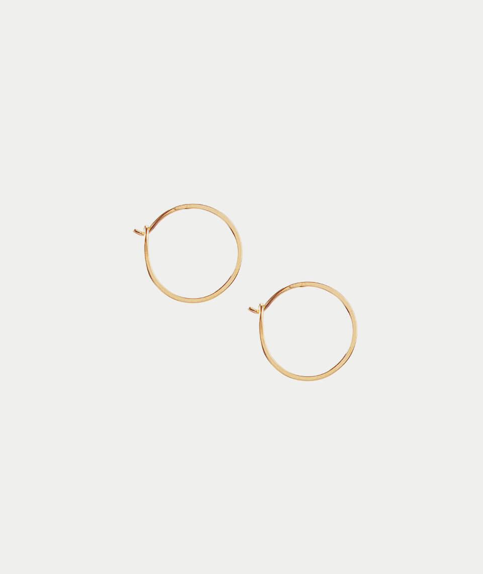 Kris Nations Small Simple Hoop Earrings