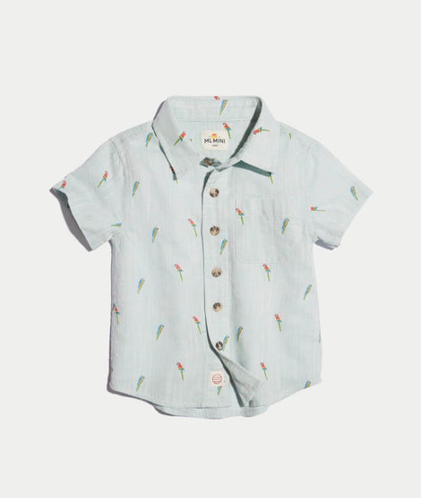 Mini Parrot Button Down