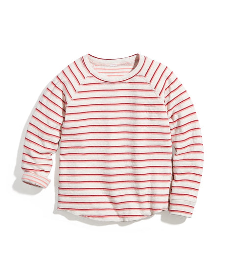 Mini Reversible Raglan Top in Multi Stripe