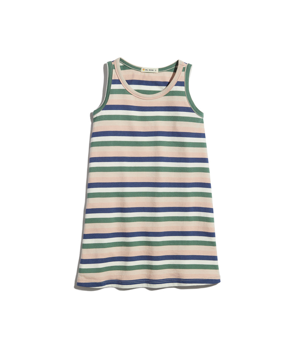 Mini Tank Dress in Multi Stripe