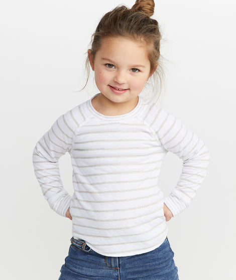 Mini Reversible Raglan in Multi Stripe