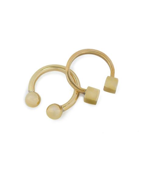 Soko Mixed Shapes Rings in Brass