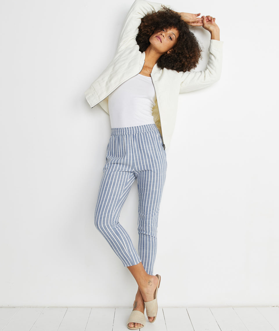 Monica Pant in Blue Stripe