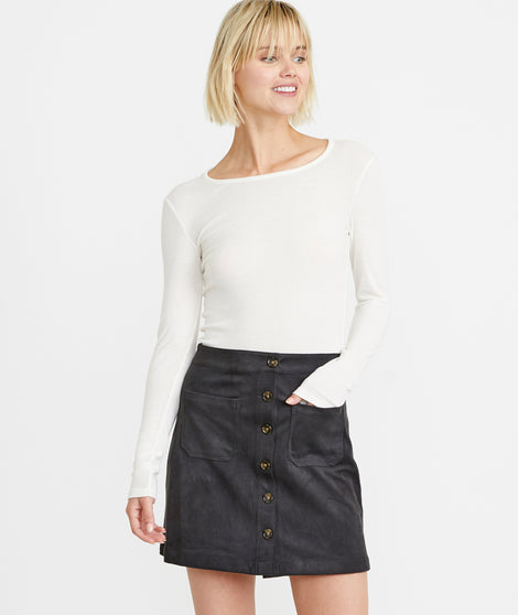 Myra Mini Skirt in Anthracite