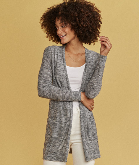 Nantucket Cardigan in Oatmeal Heather