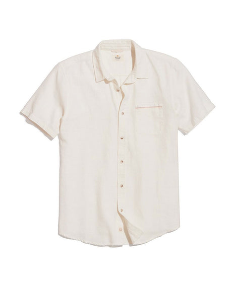 Short Sleeve Selvage Shirt in Natural