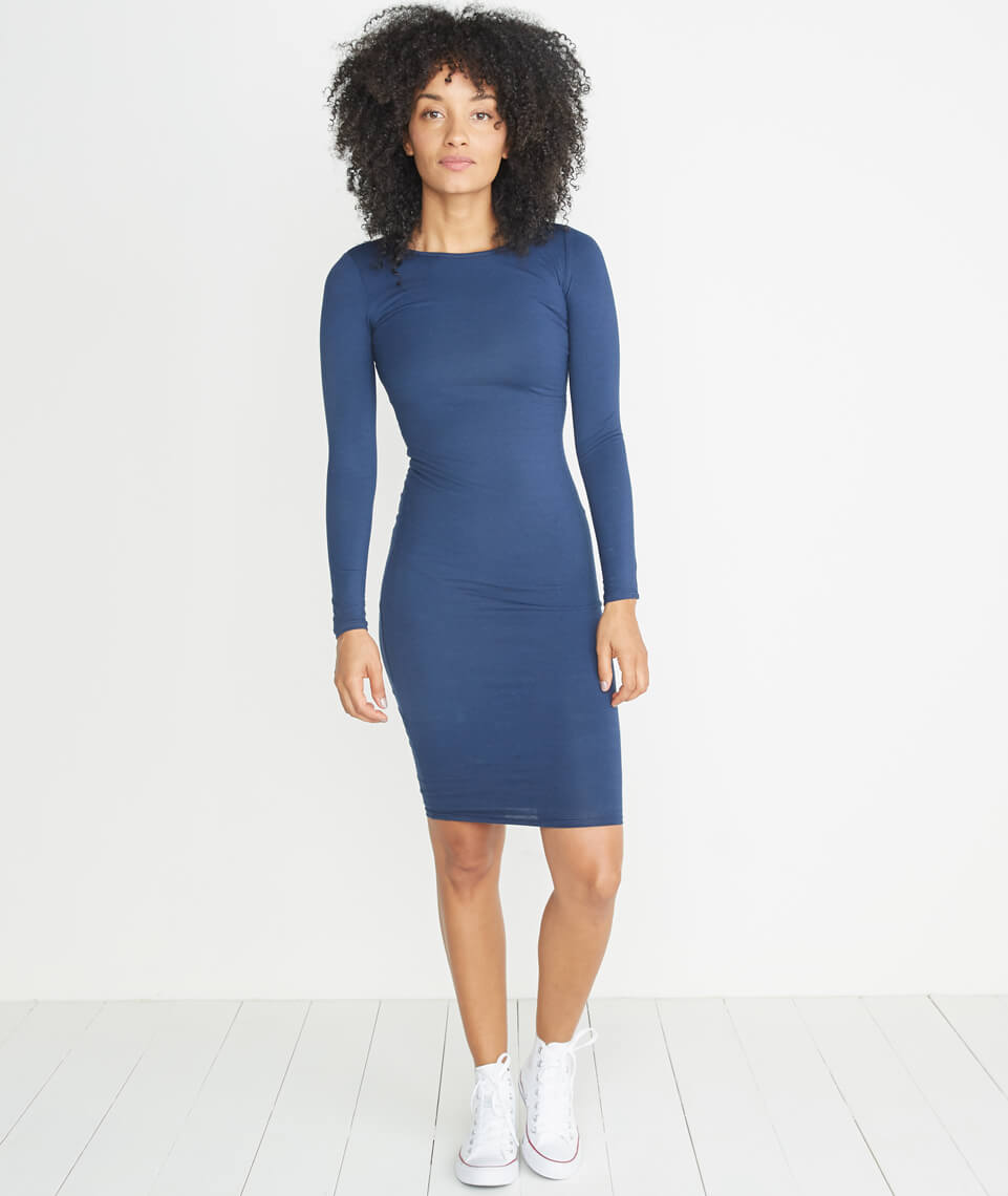 Lexi Longsleeve Midi Dress in Twilight