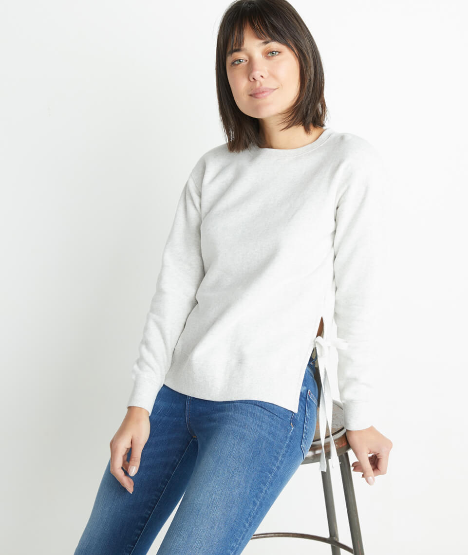 Nora Sweatshirt in Light Heather Grey