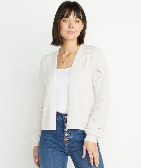 Olivia Cardigan in Antique White