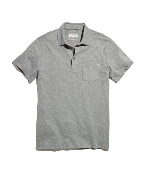 Palmer Sport Polo in Heather Grey