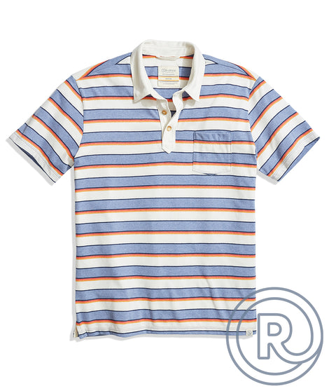 Re-Spun Striped Polo in Multi Stripe