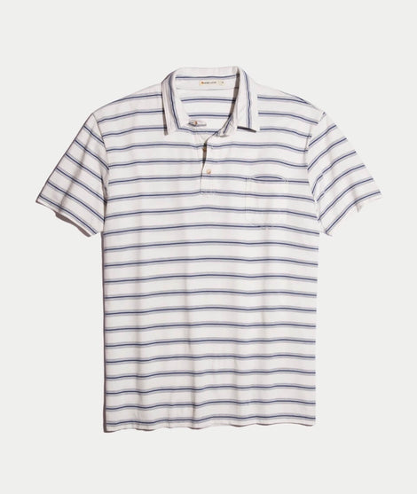 Presidio Polo in Navy/White