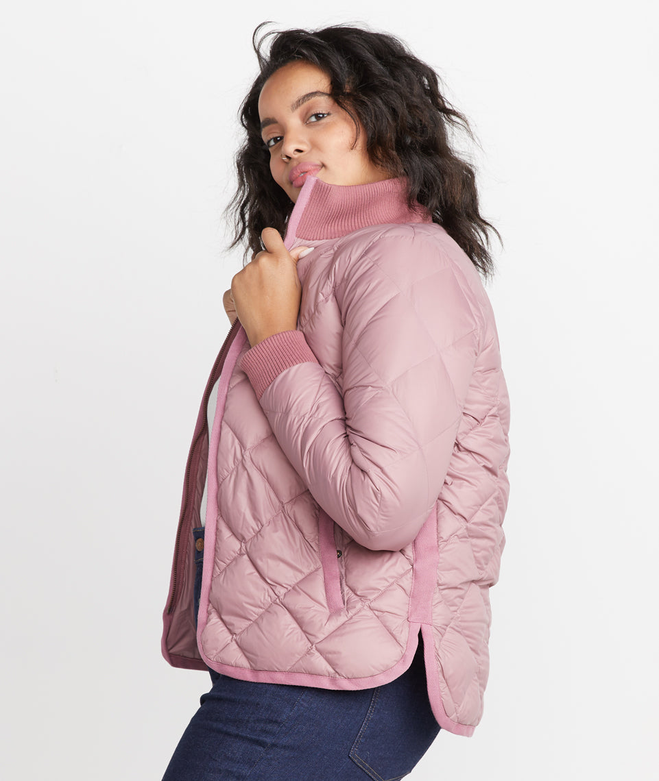 Meredith Puffer Coat in Mauve