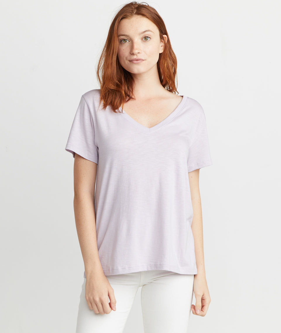Boyfriend V-neck in Lavender