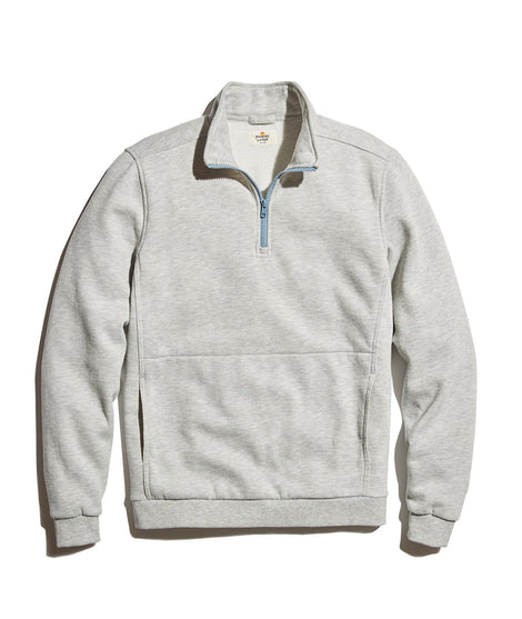 Quarter Zip Sweatshirt in Light Heather Grey