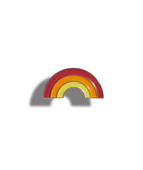 Rainbow Pin in Red