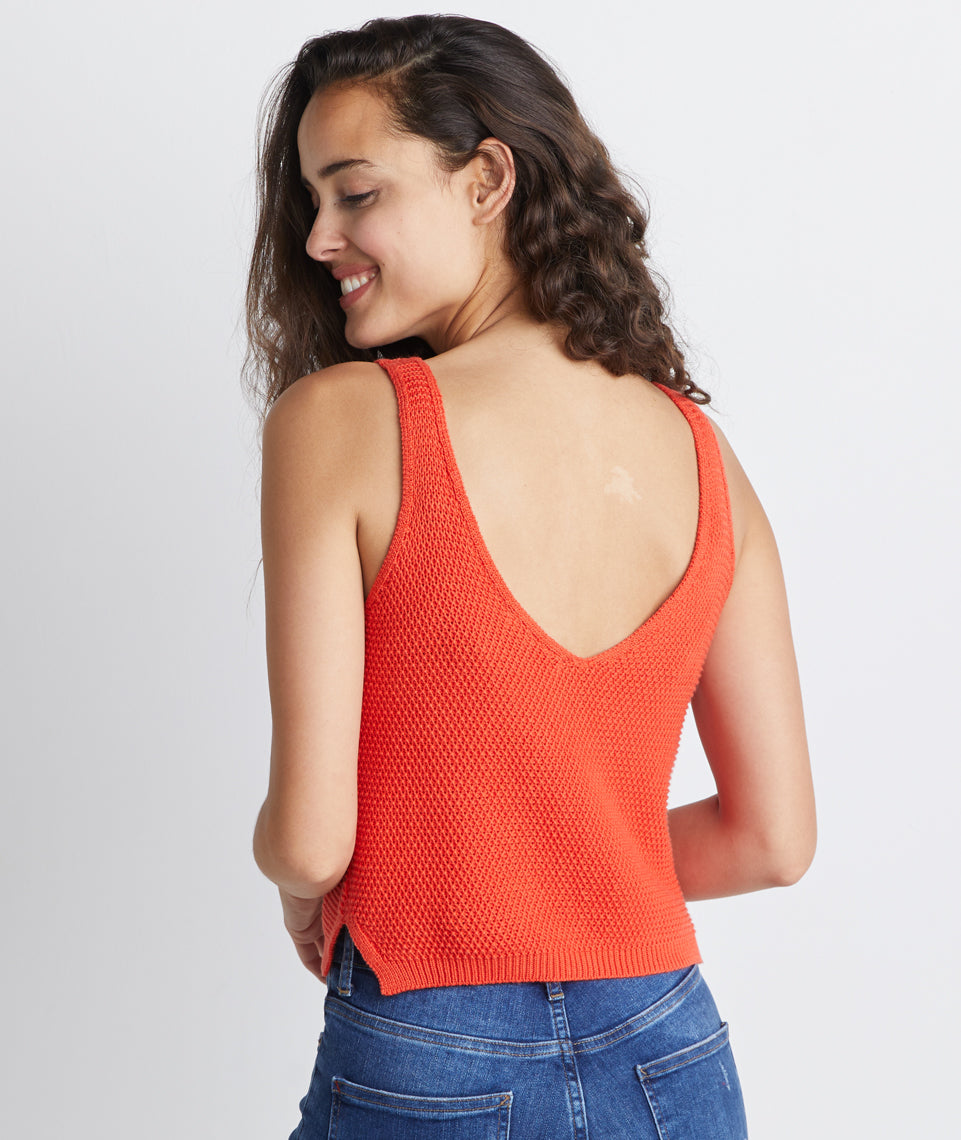 Finley Sweater Tank in Chili Pepper