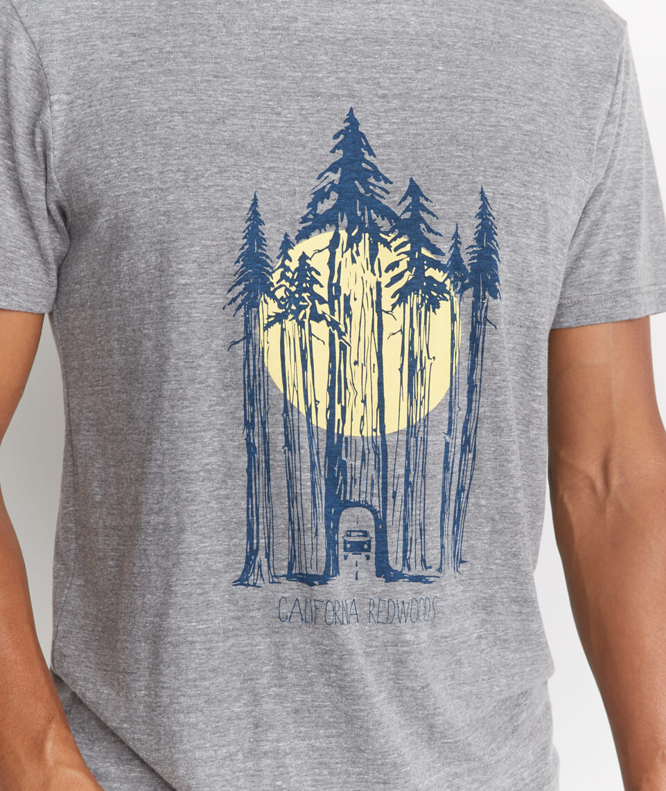 Redwoods Tee in Heather Grey