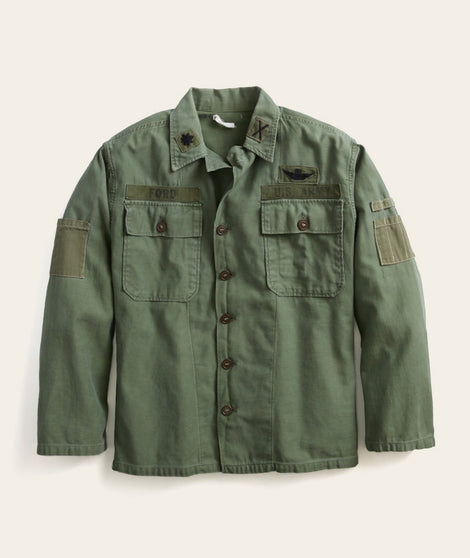 Military Cotton Jacket in Green