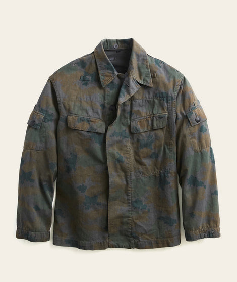 Military Cotton Jacket in Camo