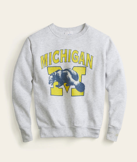 Michigan College Crew Sweatshirt