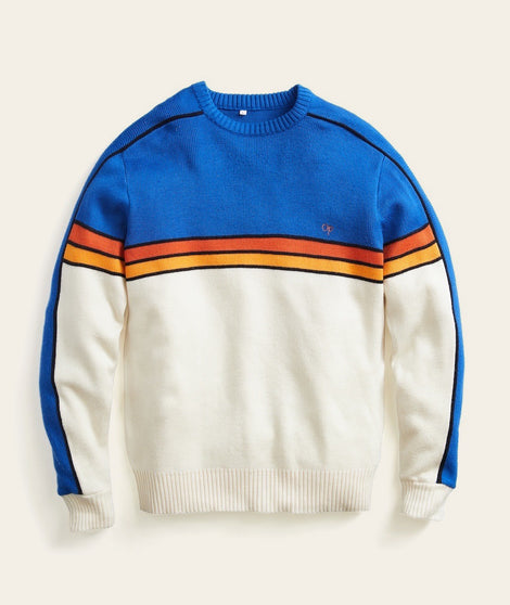 Vintage OP Crew in Blue Sunset Stripe