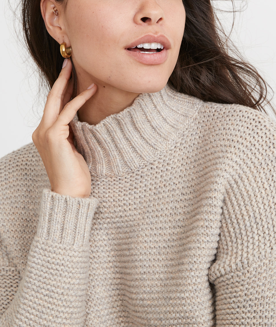 Remi Sweater in Camel Heather