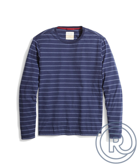Re-Spun Long Sleeve Crew in Blue Stripe