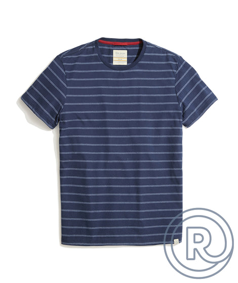 Re-Spun Stripe Crew in Blue Stripe