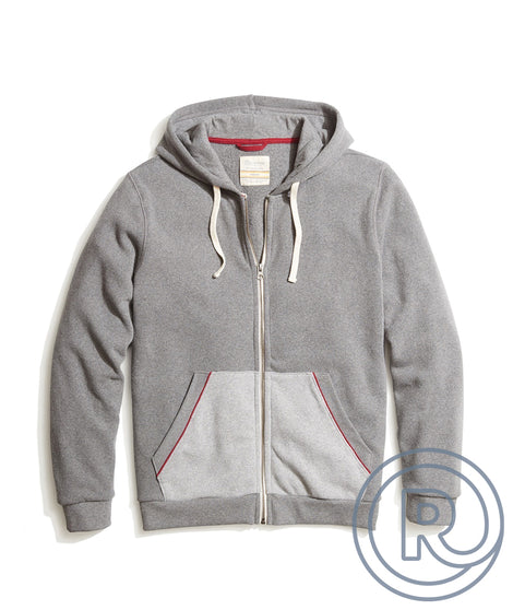 Re-Spun Zip Hoodie in Light Heather Grey